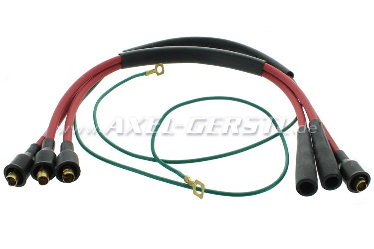Serie cavi accensione, rosso (silicone)