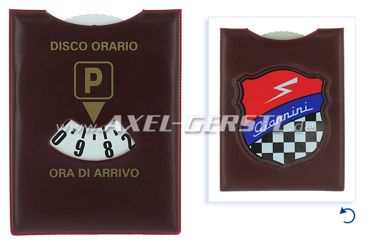 Parking disc 115 x 165 mm (brown), Giannini coat of arms