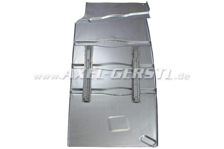 Floor pan with seat runners/rails, right, galvanized