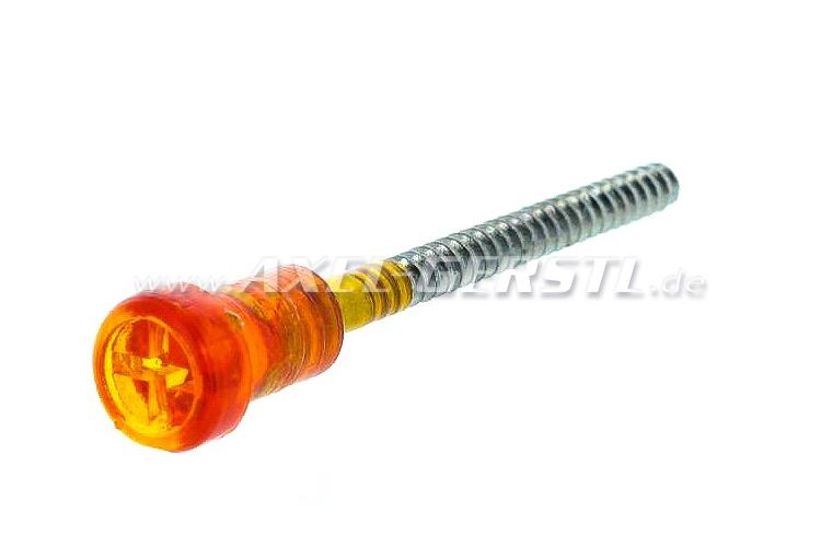 Vis pour le clignotant, longue (50-52mm), orange
