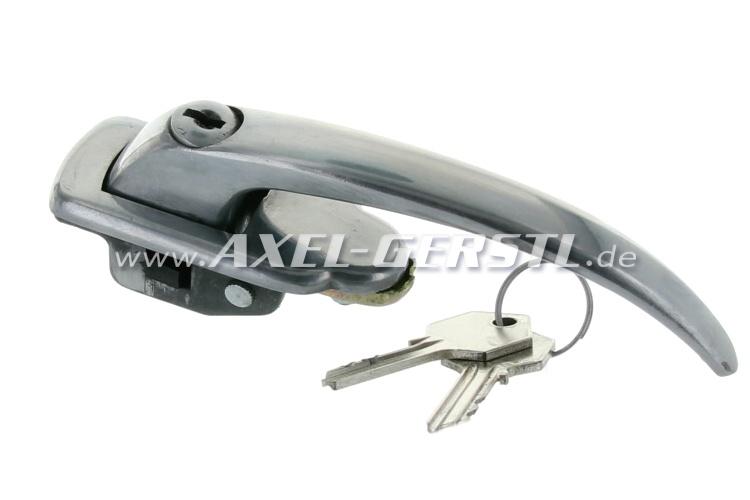 Maniglia e serratura posteriore, completo con chiave