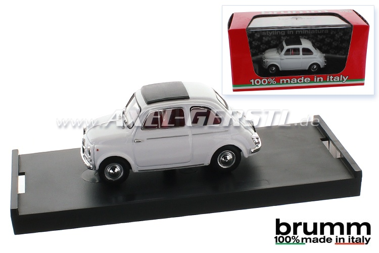 Model car Brumm Fiat 500 D, 1:43, white / closed