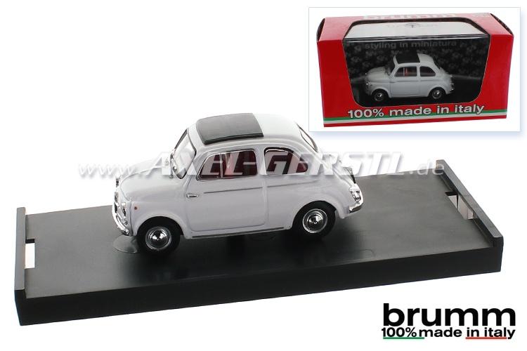 Modello dauto Brumm Fiat 500 D, 1:43, bianco / chiuso