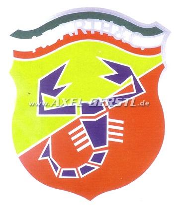 Emblème Abarth 50 x 58 cm, plaque en plastique rigide