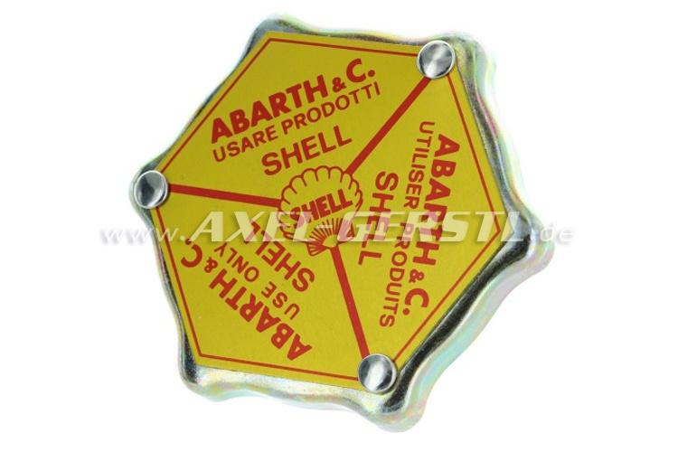 Deckel f. Öleinfüllstutzen Abarth Shell (Alu-V-Deckel)