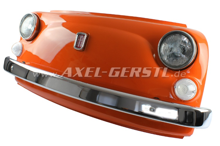 Wand-Deko Fiat-500-Frontmaske orange, inkl. Beleuchtung