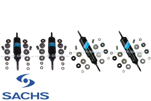 Set of SACHS shock absorber, front & back, w. rubber parts
