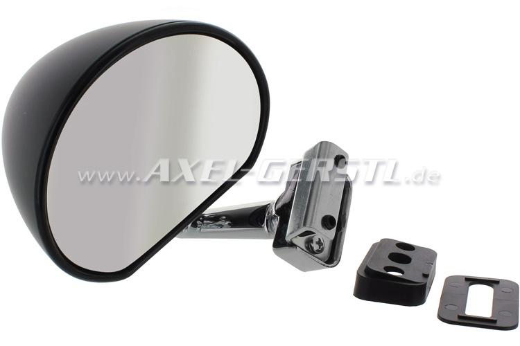 Specchietti laterali, montaggio battuta porte, nero, dx/sx