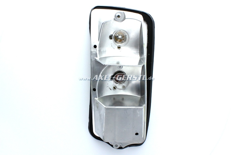 Tail lamp housing with rubber base, left, PREMIUM