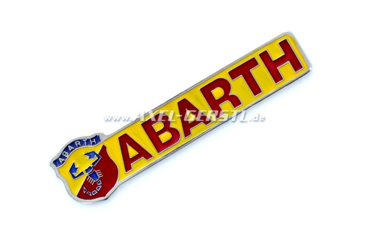 Plaque dAbarth pour coller, 97mm x 25mm