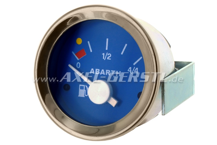 Abarth petrol gauge, 52mm, blue dial