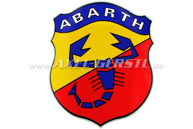 600 Fiat 500 70 mm Abarth Scorpion yellow  Emblem