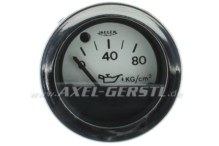 Jaeger oil pressure gauge, white dial