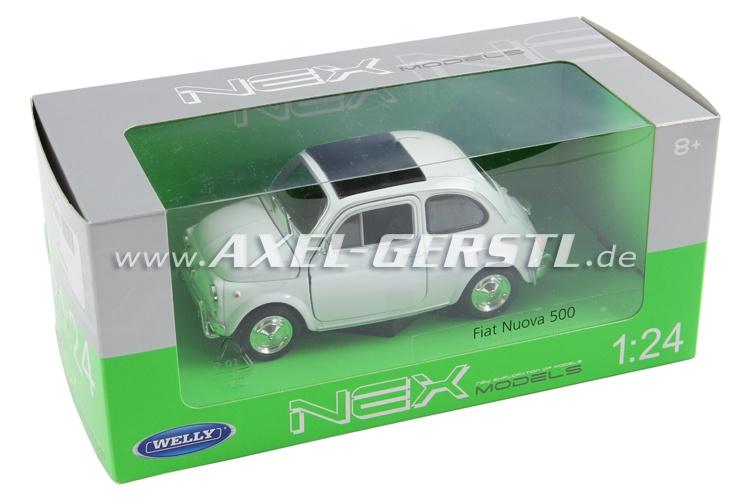 Auto modello WELLY Fiat 500 L, 1:24, bianco/chiuso