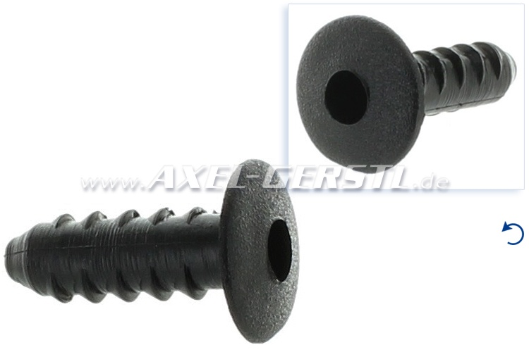 Rubber bolt for foot-mats / carpet, h = 24 mm