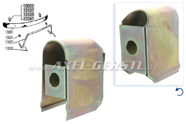 Spacer sleeve for bumper, B-Quality