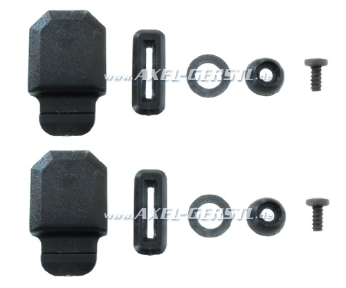 Fitting repair kit for rear side window