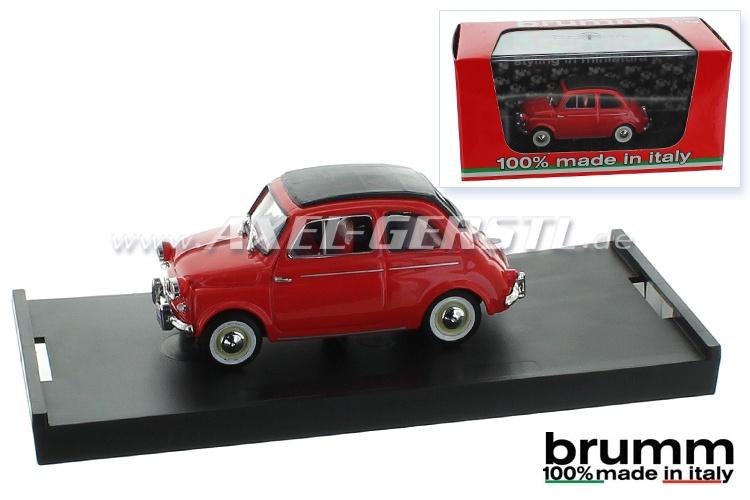 Modellauto Brumm Fiat 500 N (US-Version), 1:43 rot / geschl.
