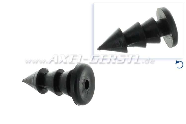 Rubber bolt for floor mats/trunk gasket