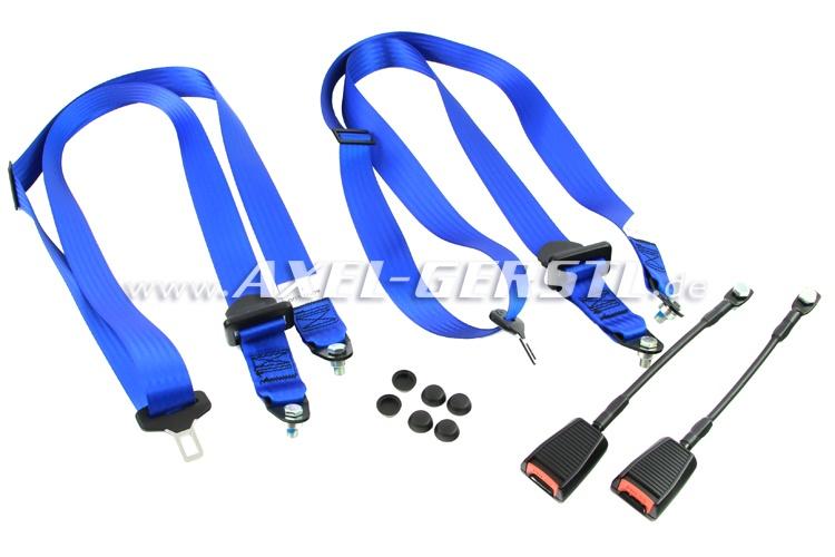 Sicherheitsgurte vorne paarweise, Farbe blau
