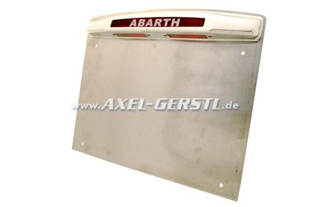 Kennzeichenleuchte ABARTH incl. Alu-Unterlage & Rahmen