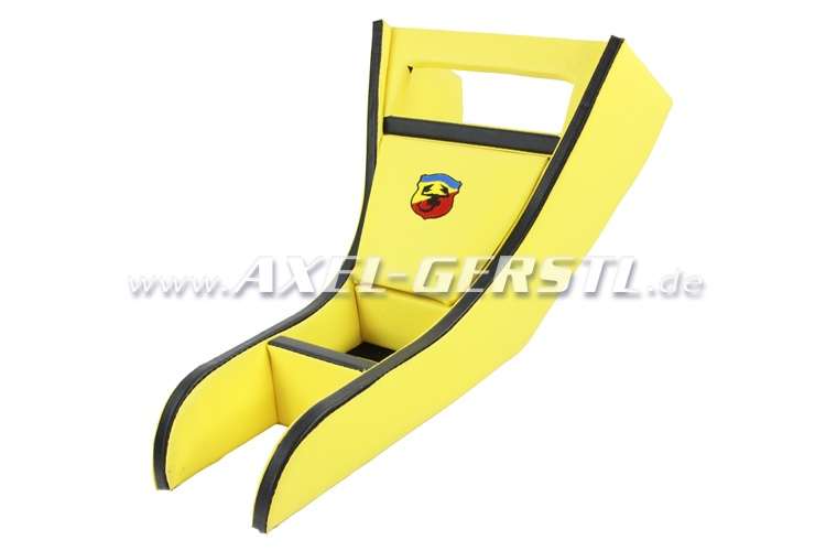 Radio housing ABARTH blk. & yellow imitation leather cov.