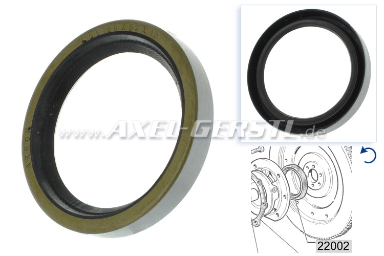Radial shaft seal for engine, rear (at clutch side)