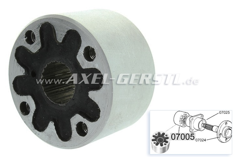 Axle coupling (torsion damper)