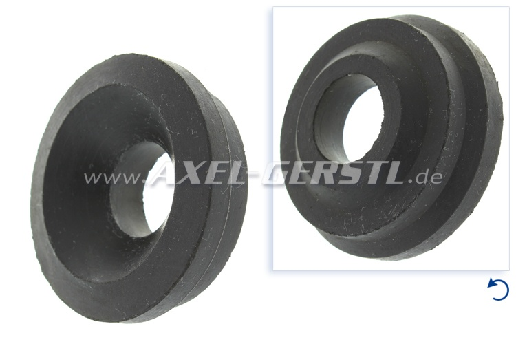 Rubber bearing for engine, front