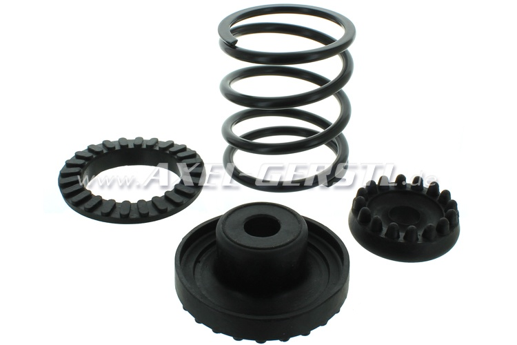 Set of rubber bearings with spring