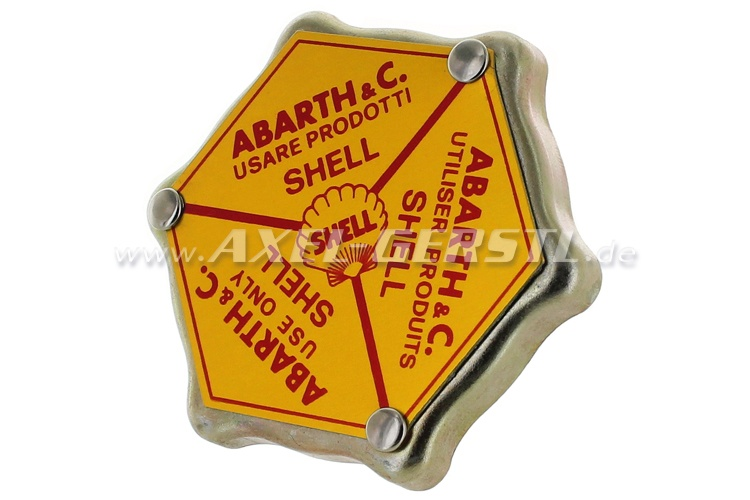 Bouchon pour remplissage dhuile, alu Abarth Shell