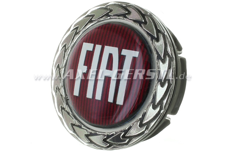 Wheel cover Fiat, on red, 42,5/50 mm