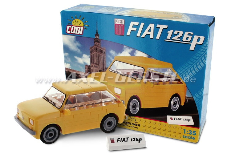 Building blocks model car Fiat 126p, 1:35