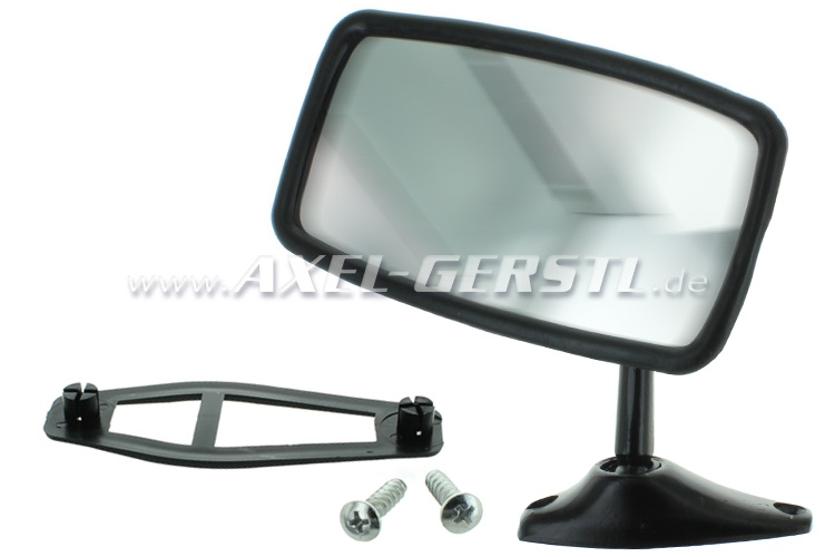 Wing mirror, door mounting left/right, black