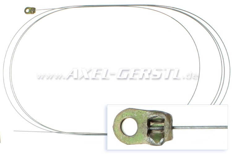 Choke control cable assembly (with eye)
