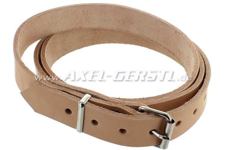 Leather belt for luggage rack (135 x 2.5 cm), beige/natural