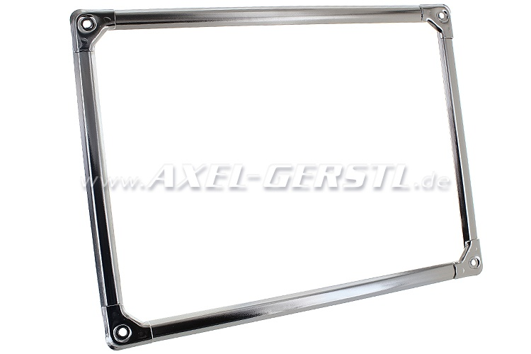 Chrome frame for license plate, rear (280 x 205 mm), chromed