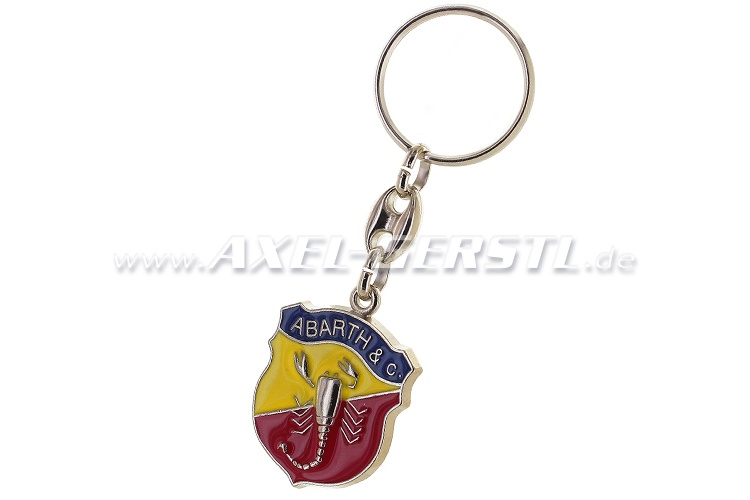 Abarth key fob (escutcheon on silver background)