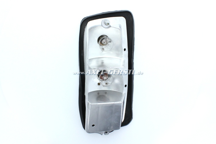 Tail lamp housing with rubber base, right, PREMIUM