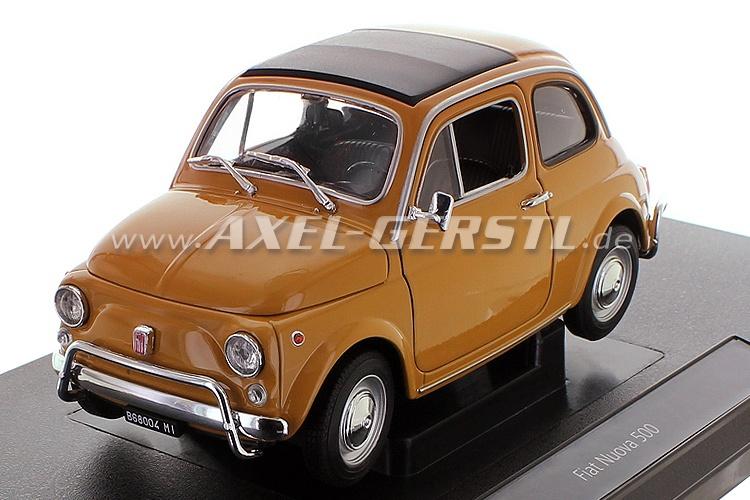 Modello dauto Welly Fiat 500 L, 1:18, ocra / chiuso