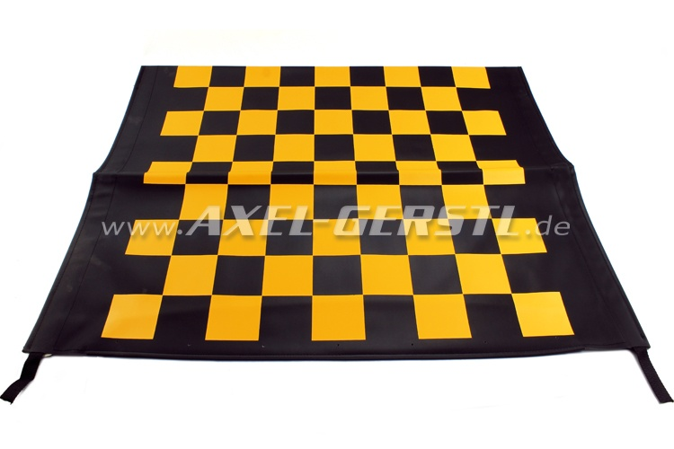 Fodera capote Corsa, nero e gialla quadrettata