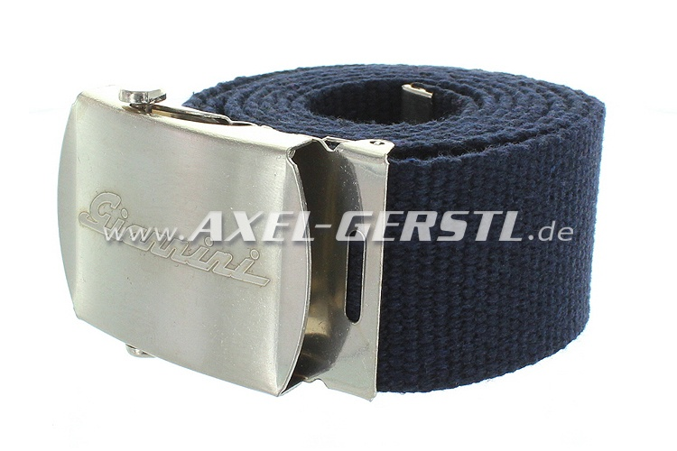 Belt (40 mm) with Giannini belt buckle, blue