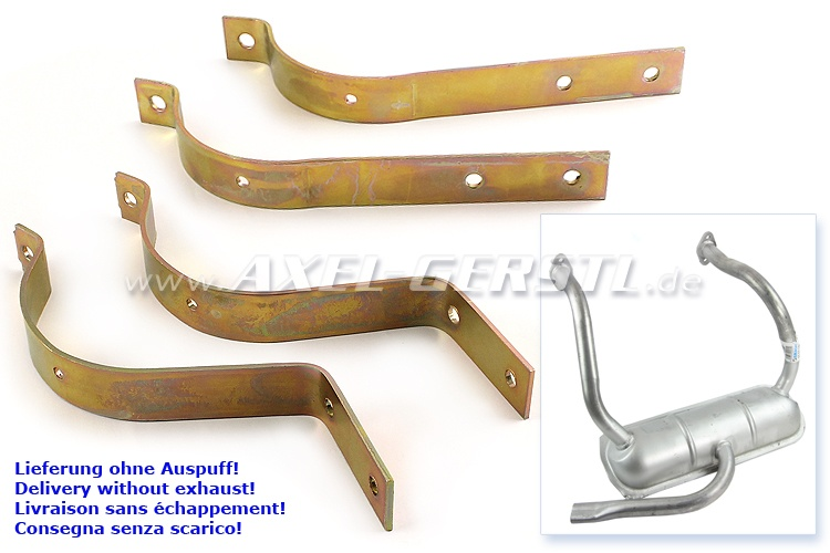 Exhaust bracket kit (4 pieces), polish production