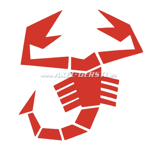 Sticker Abarth Scorpion, red (85 x 90 mm)