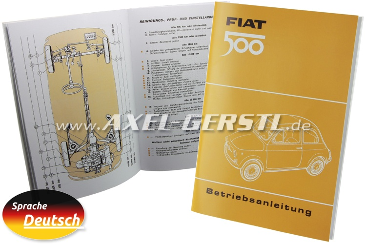 Instruction manual, reprint in colour, 59 pages A5 (German)