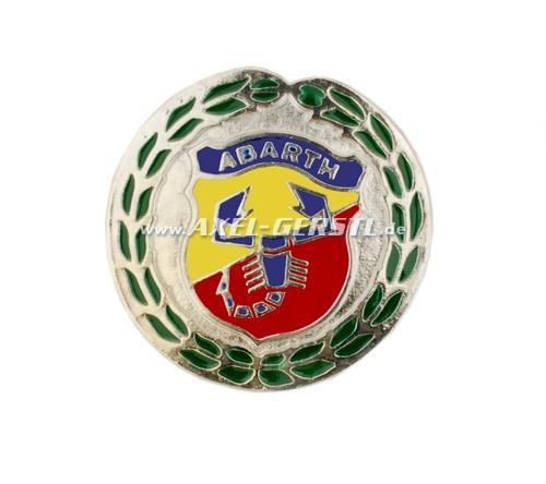 Abarth-Emblem Wappen m. Lorbeeren rd./55mm, verschraubt
