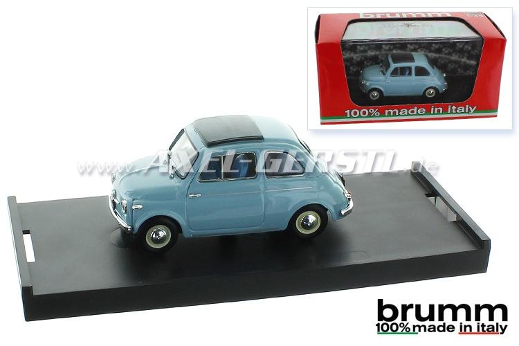 Modellauto Brumm Fiat 500 N, 1:43, himmelblau / geschlossen