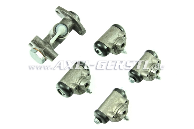 Set of brake cylinders (4 wheel cyl. and 1 main brake cyl.)