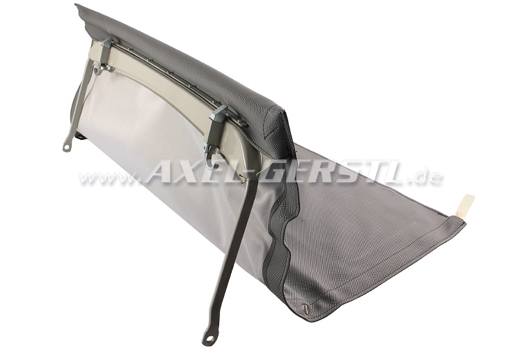 Convertible top with front bow & middle stick (short), grey