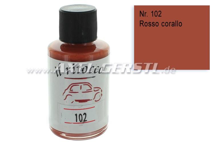 Touch-up paint for the bodywork, coral red, N. 102
